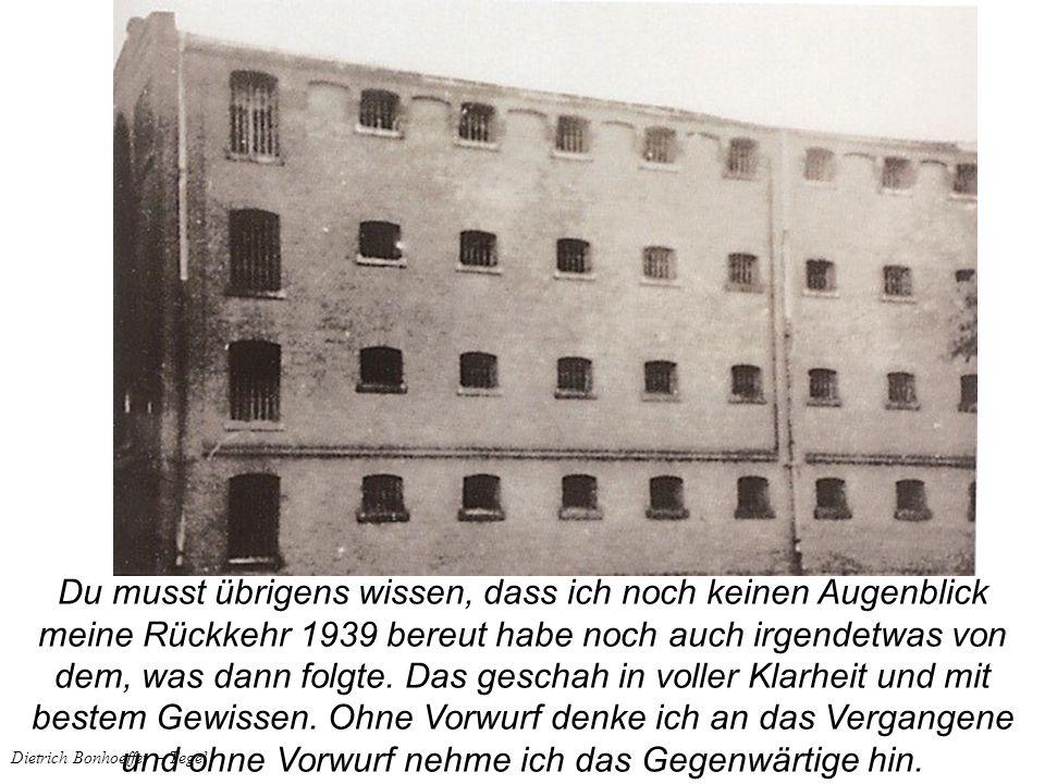 Dietrich Bonhoeffer – Tegel