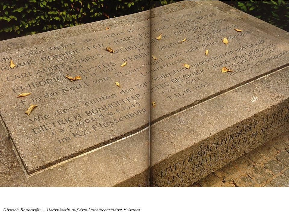 Dietrich Bonhoeffer – Gedenkstein auf dem Dorotheenstädter Friedhof