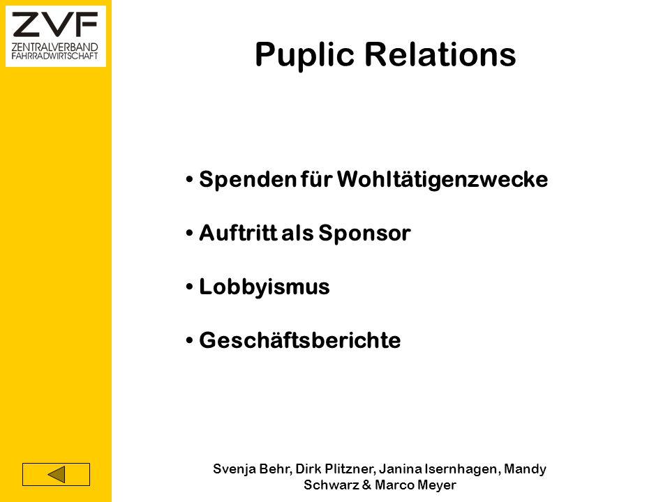 Puplic Relations Spenden für Wohltätigenzwecke Auftritt als Sponsor