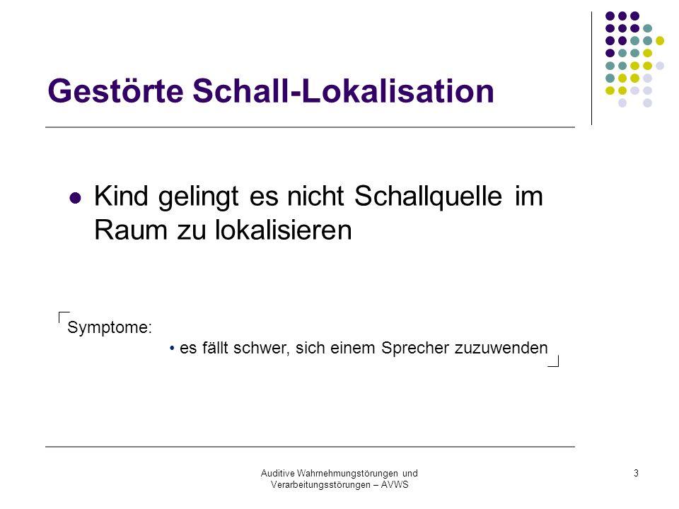 Gestörte Schall-Lokalisation