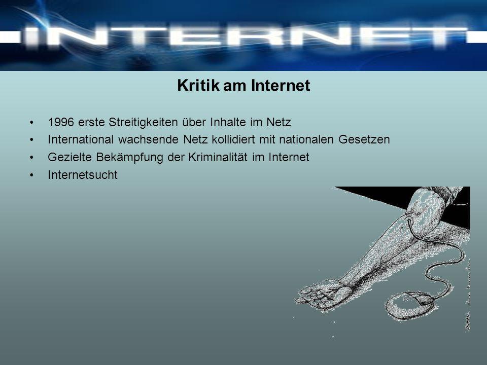 Kritik am Internet 1996 erste Streitigkeiten über Inhalte im Netz