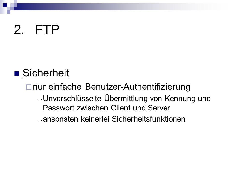 FTP Sicherheit nur einfache Benutzer-Authentifizierung