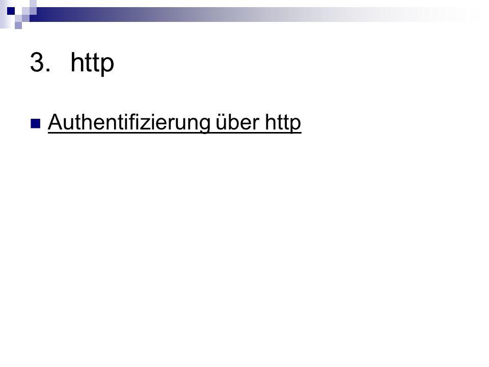 http Authentifizierung über http