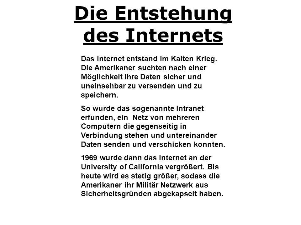 Die Entstehung des Internets