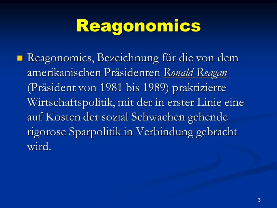 Reagonomics