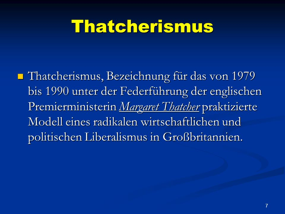 Thatcherismus