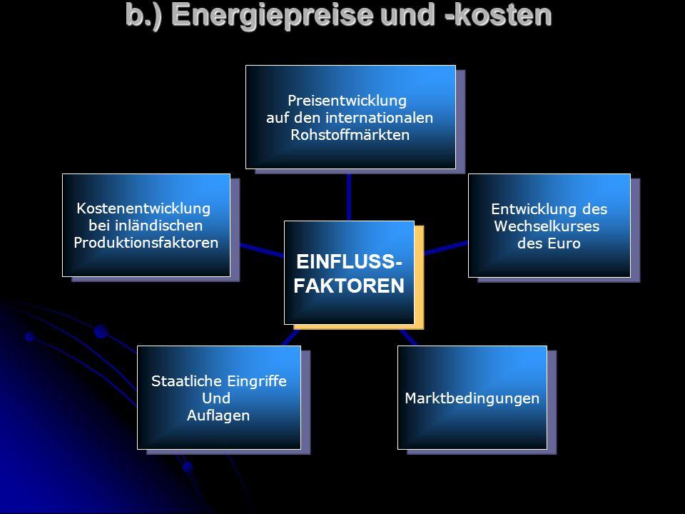 b.) Energiepreise und -kosten