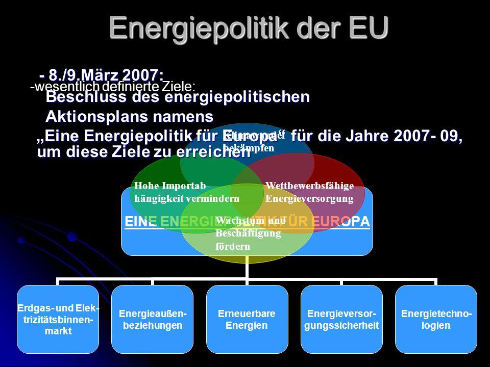 Energiepolitik der EU - 8./9.März 2007: