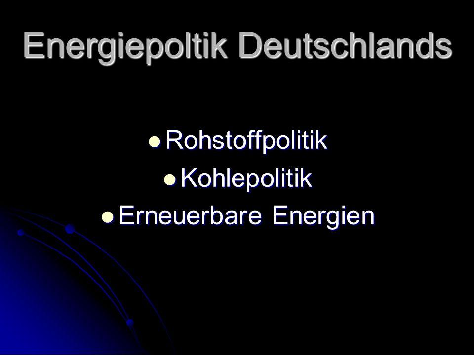 Energiepoltik Deutschlands