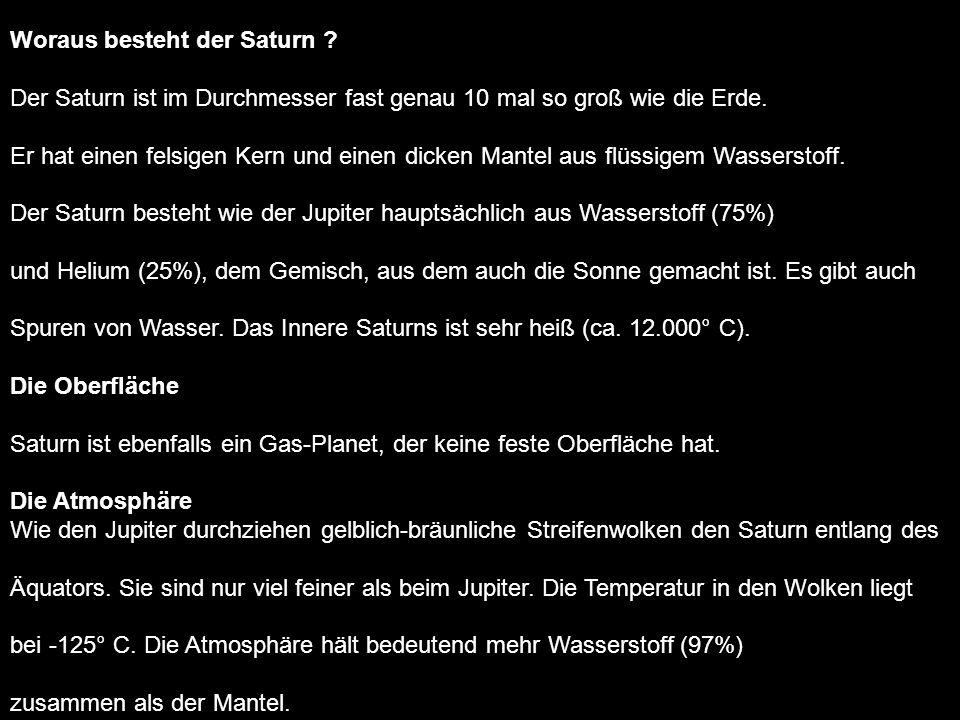 Woraus besteht der Saturn