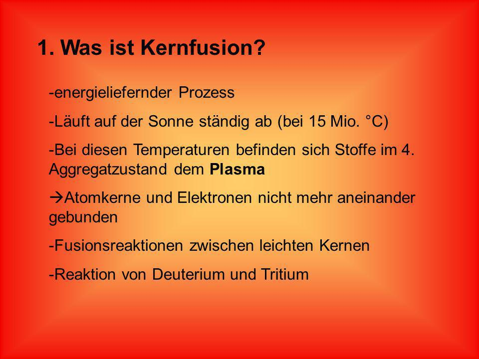1. Was ist Kernfusion energieliefernder Prozess
