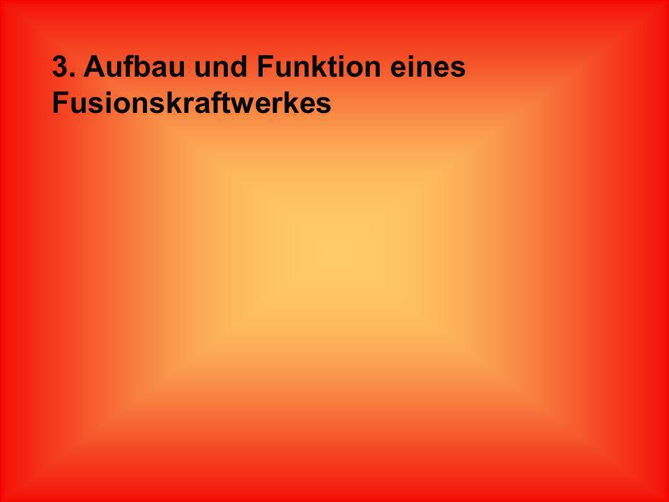 3. Aufbau und Funktion eines Fusionskraftwerkes