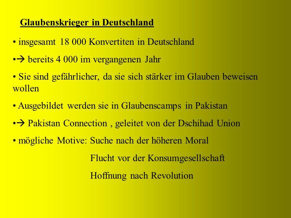 Glaubenskrieger in Deutschland