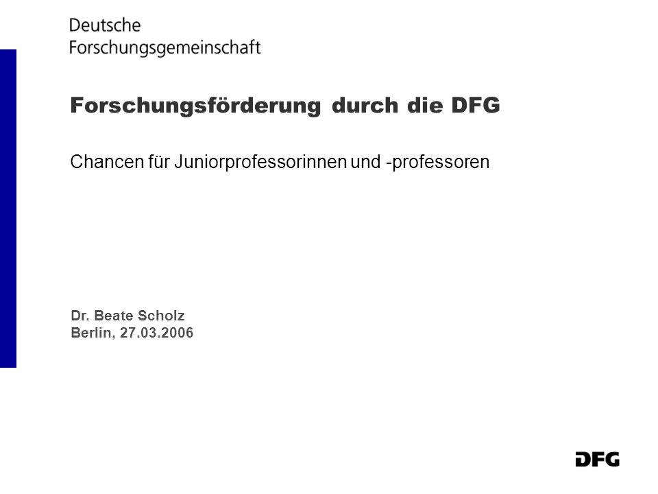 Forschungsförderung durch die DFG