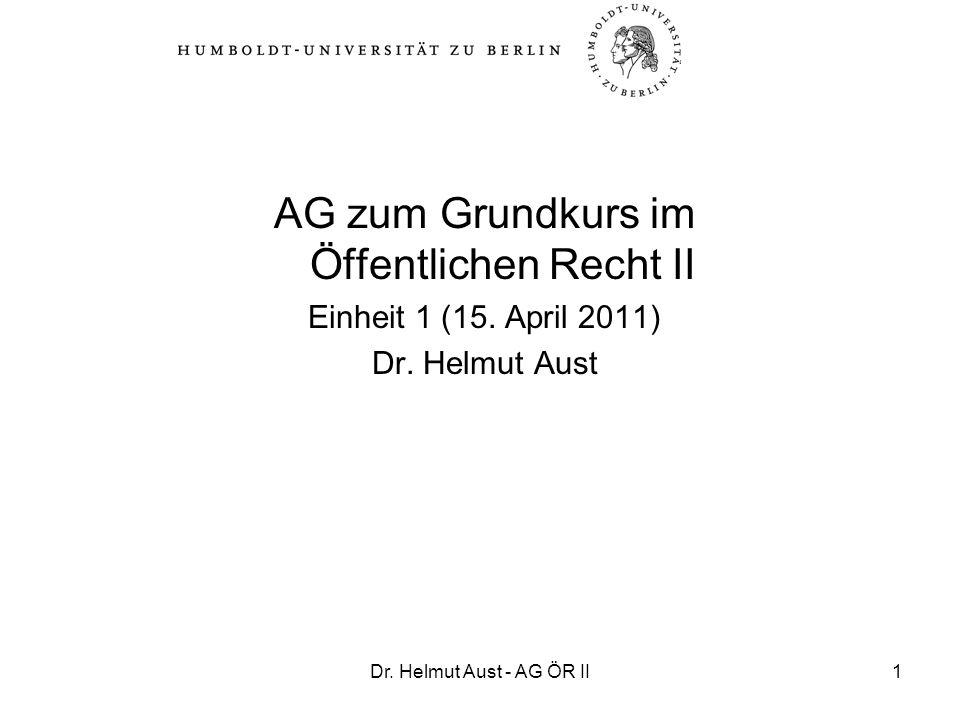 AG zum Grundkurs im Öffentlichen Recht II