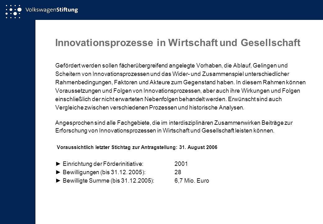 Innovationsprozesse in Wirtschaft und Gesellschaft