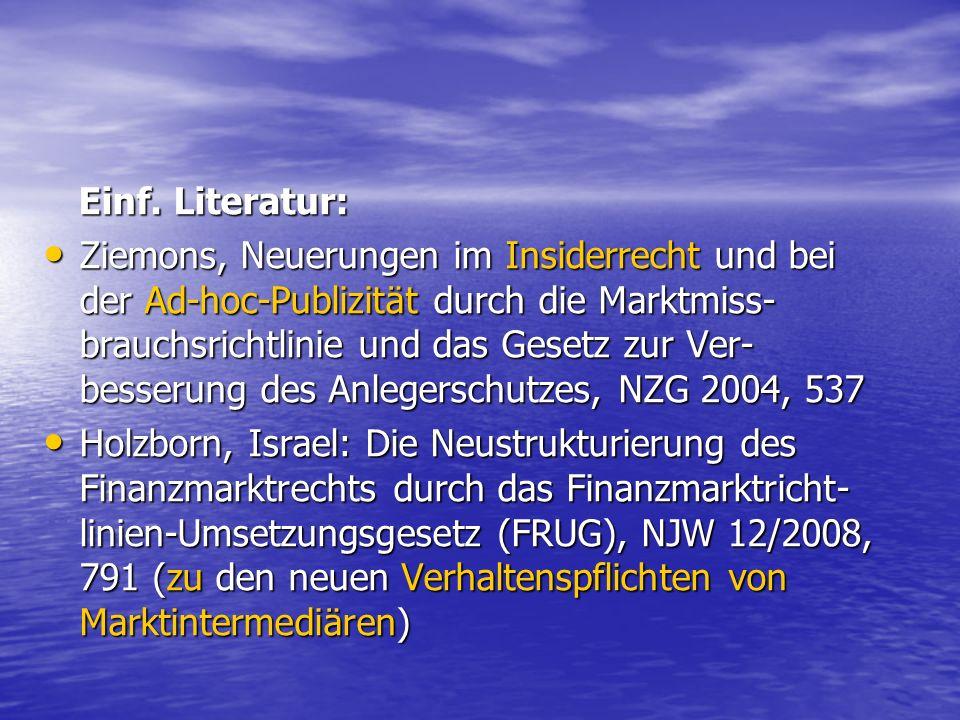 Einf. Literatur: