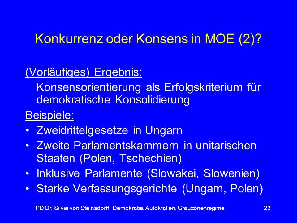 Konkurrenz oder Konsens in MOE (2)