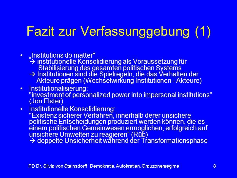 Fazit zur Verfassunggebung (1)