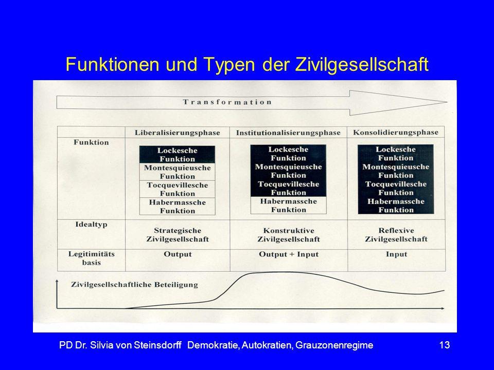 Funktionen und Typen der Zivilgesellschaft