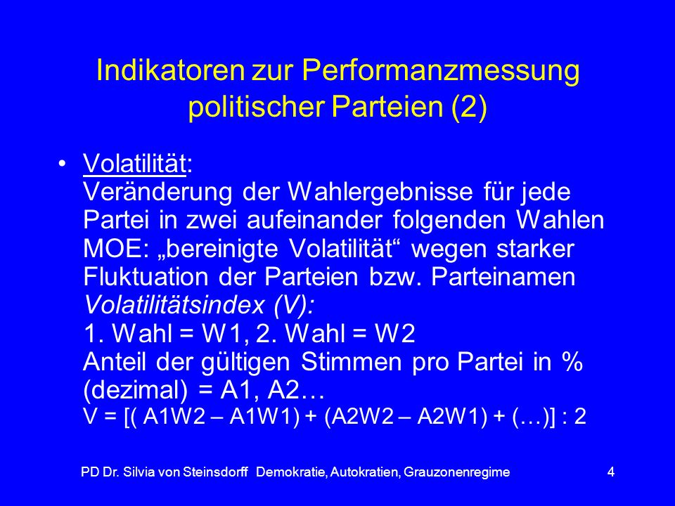 Indikatoren zur Performanzmessung politischer Parteien (2)