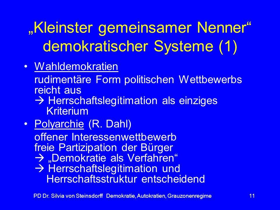 """""""Kleinster gemeinsamer Nenner demokratischer Systeme (1)"""