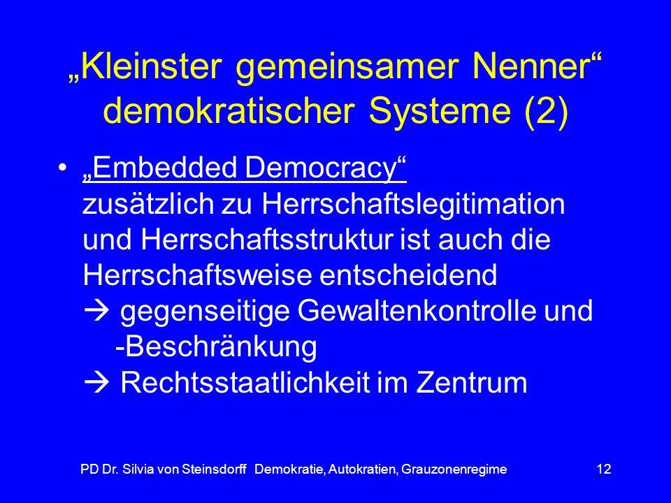 """""""Kleinster gemeinsamer Nenner demokratischer Systeme (2)"""