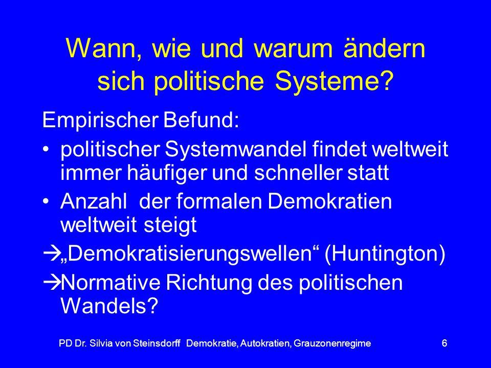 Wann, wie und warum ändern sich politische Systeme