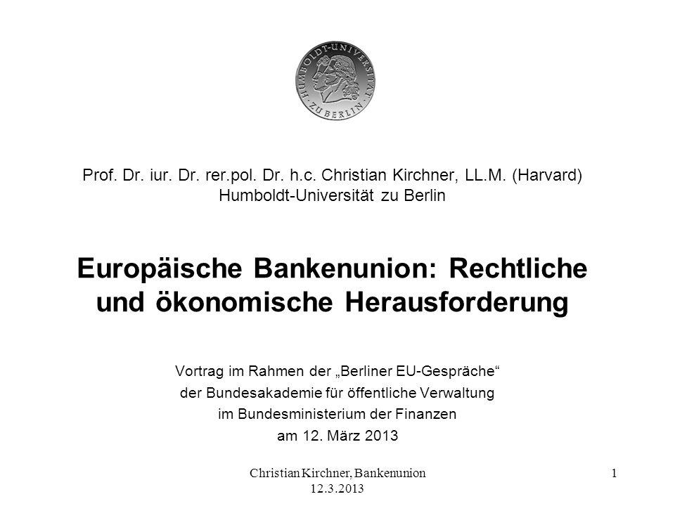 Prof. Dr. iur. Dr. rer. pol. Dr. h. c. Christian Kirchner, LL. M