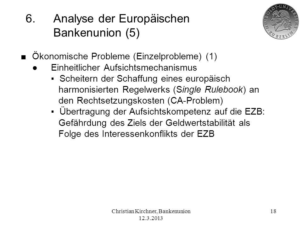 6. Analyse der Europäischen Bankenunion (5)