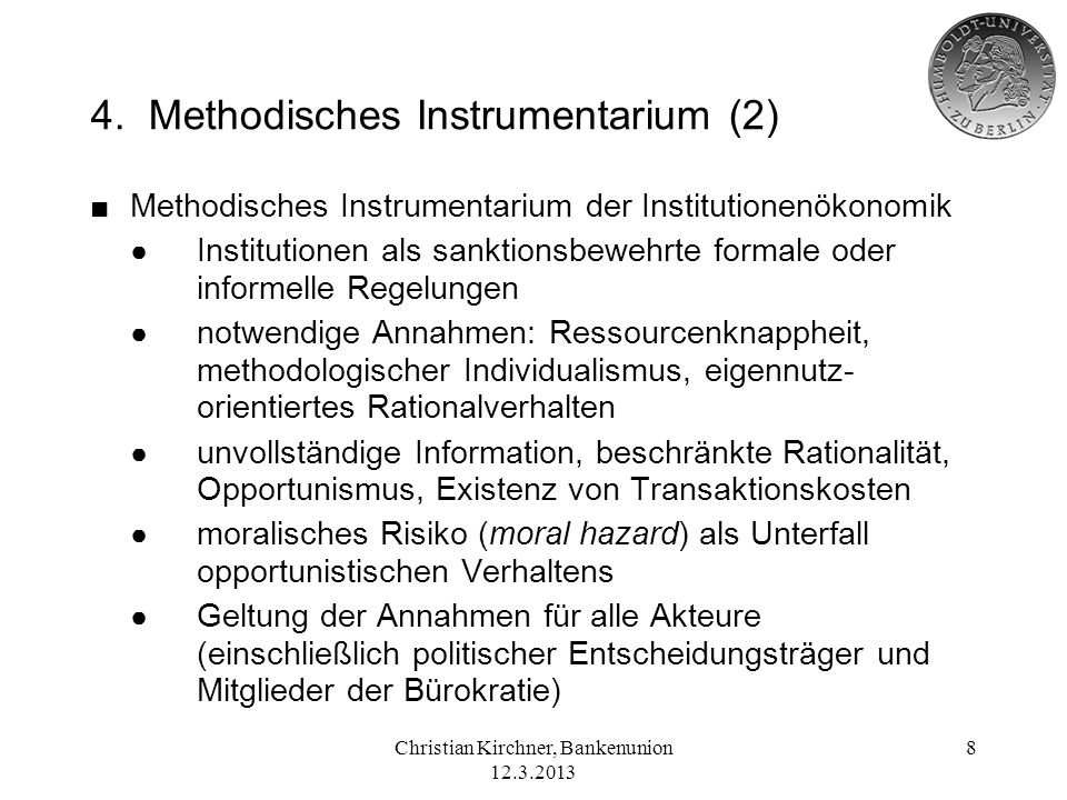 4. Methodisches Instrumentarium (2)