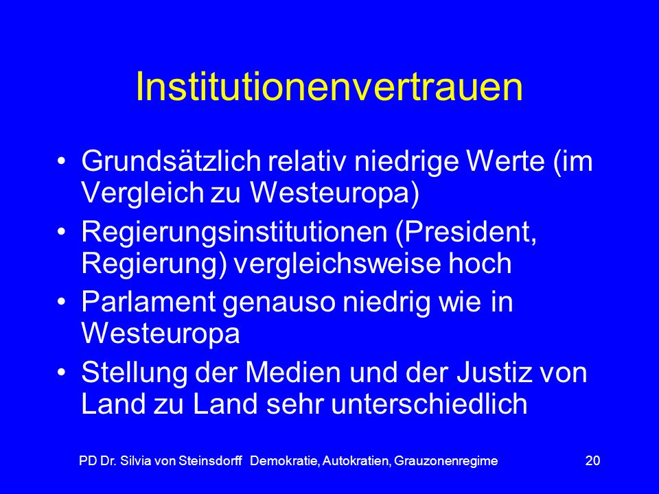 Institutionenvertrauen