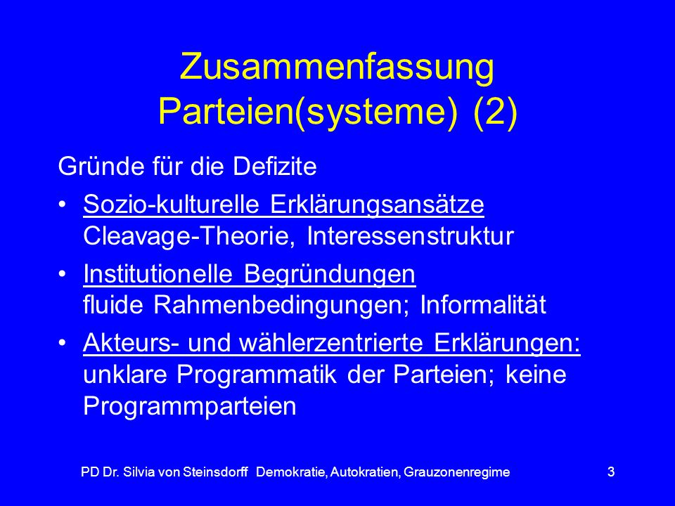 Zusammenfassung Parteien(systeme) (2)