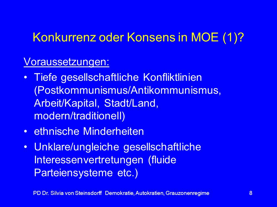 Konkurrenz oder Konsens in MOE (1)