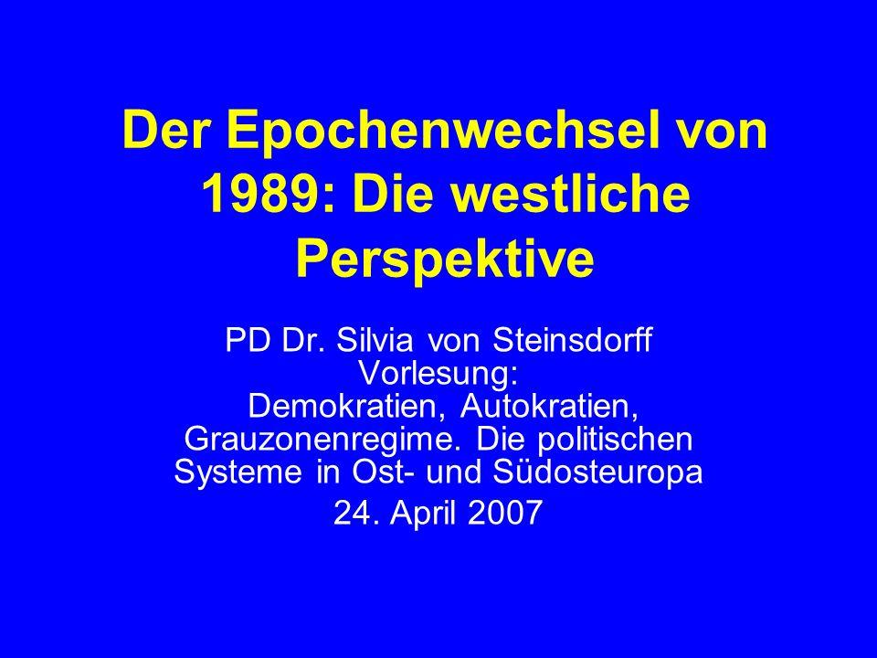 Der Epochenwechsel von 1989: Die westliche Perspektive