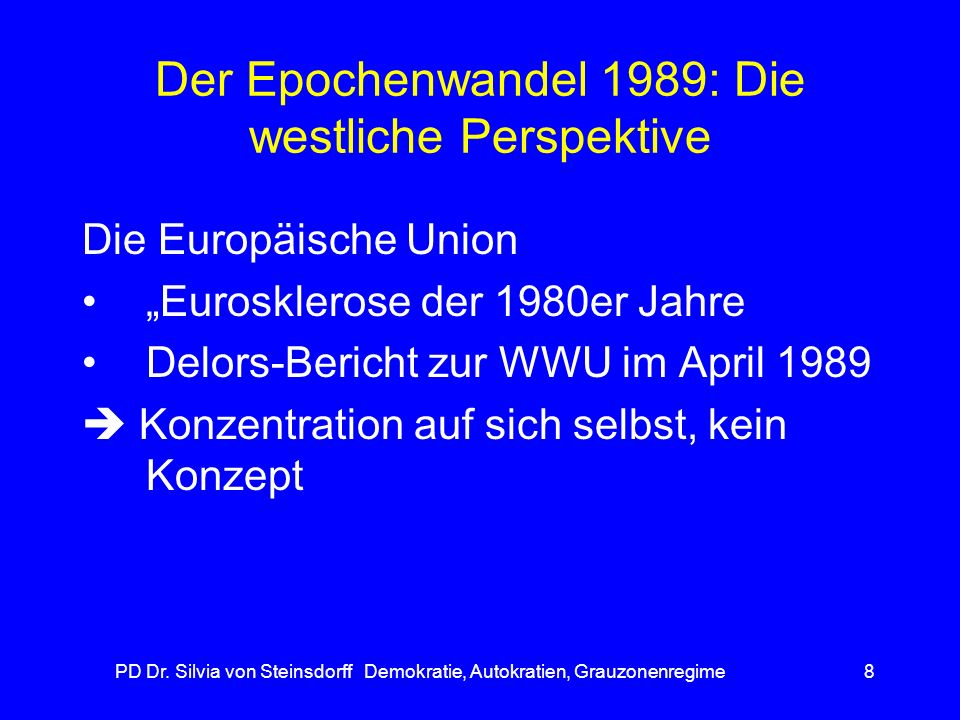 Der Epochenwandel 1989: Die westliche Perspektive