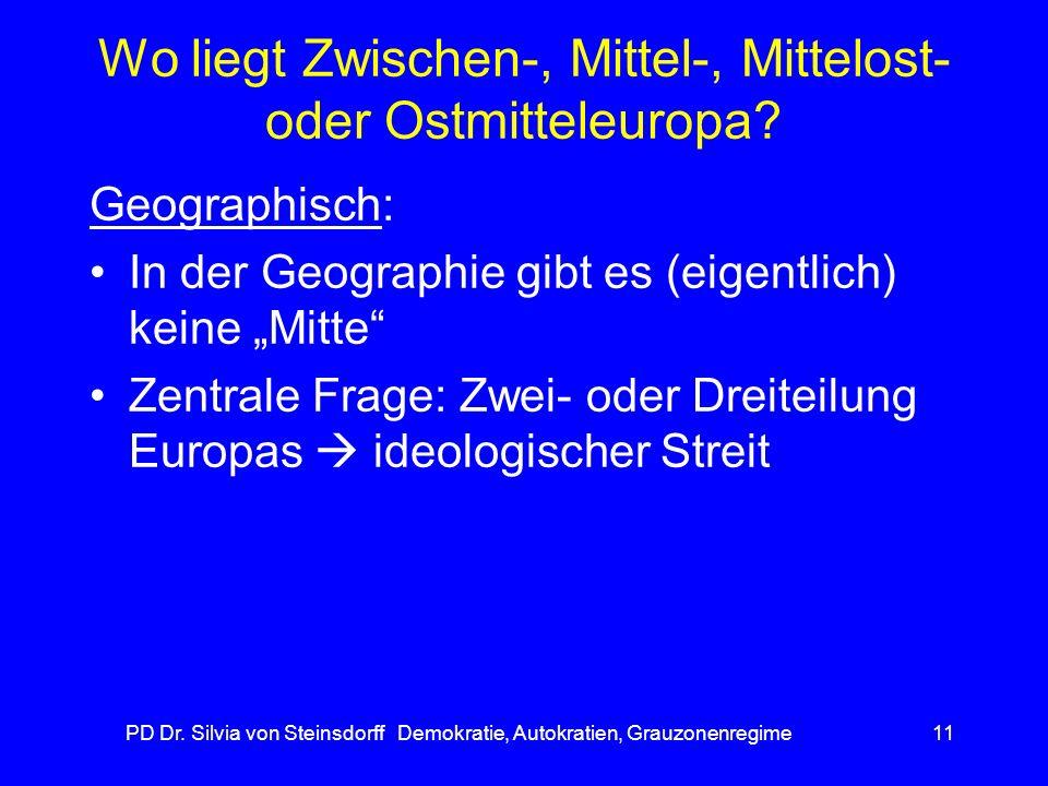 Wo liegt Zwischen-, Mittel-, Mittelost- oder Ostmitteleuropa