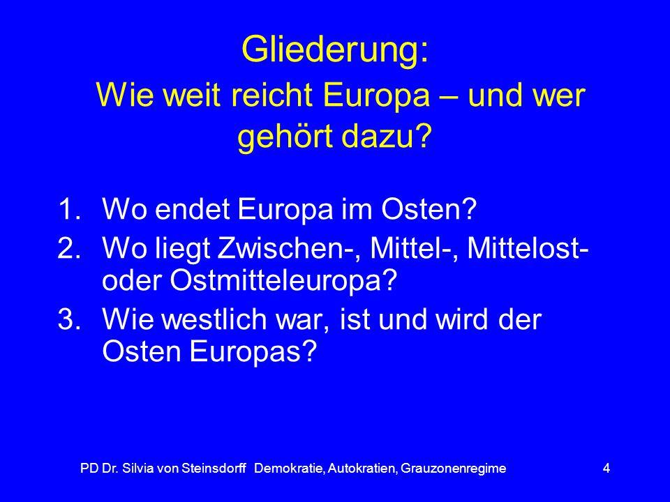 Gliederung: Wie weit reicht Europa – und wer gehört dazu