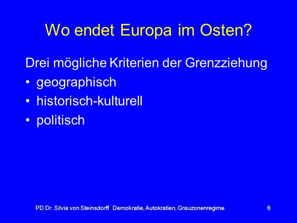 Wo endet Europa im Osten