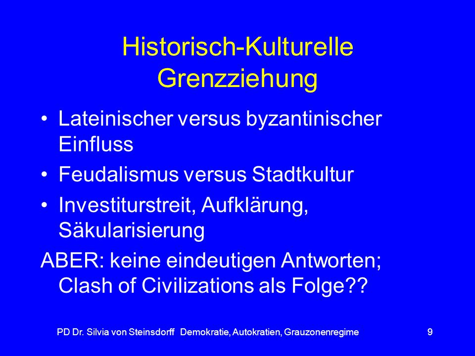Historisch-Kulturelle Grenzziehung