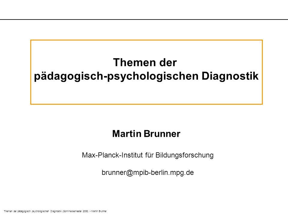 pädagogisch-psychologischen Diagnostik