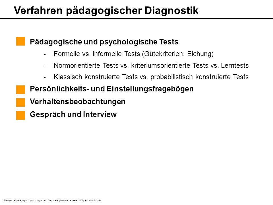 Verfahren pädagogischer Diagnostik