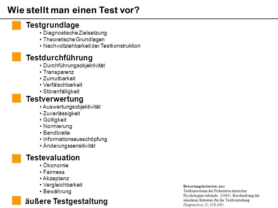 Wie stellt man einen Test vor