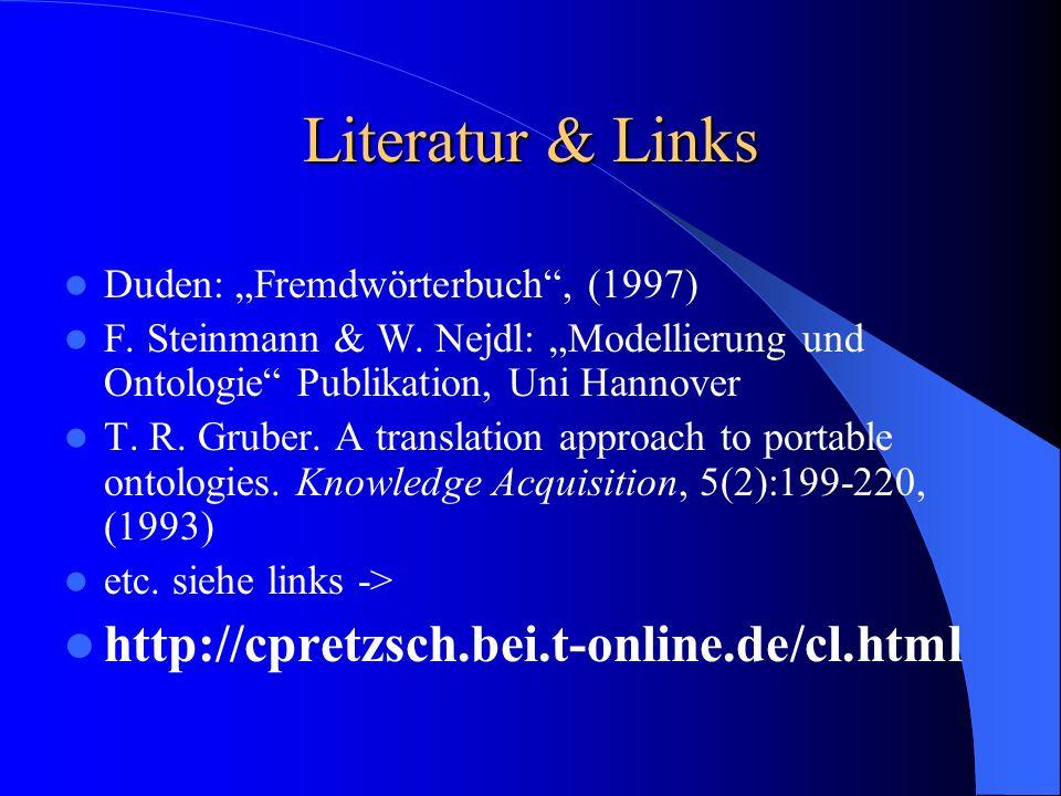 Literatur & Links http://cpretzsch.bei.t-online.de/cl.html