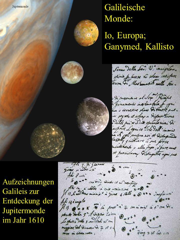 Io, Europa; Ganymed, Kallisto