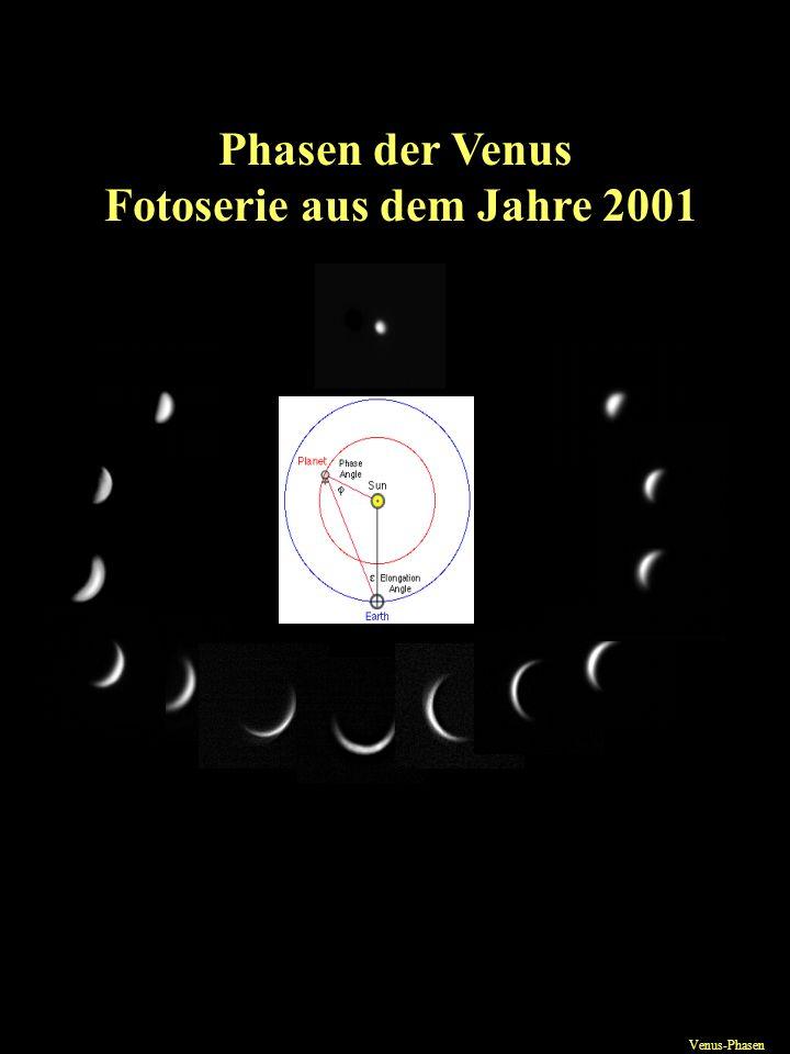 Phasen der Venus Fotoserie aus dem Jahre 2001