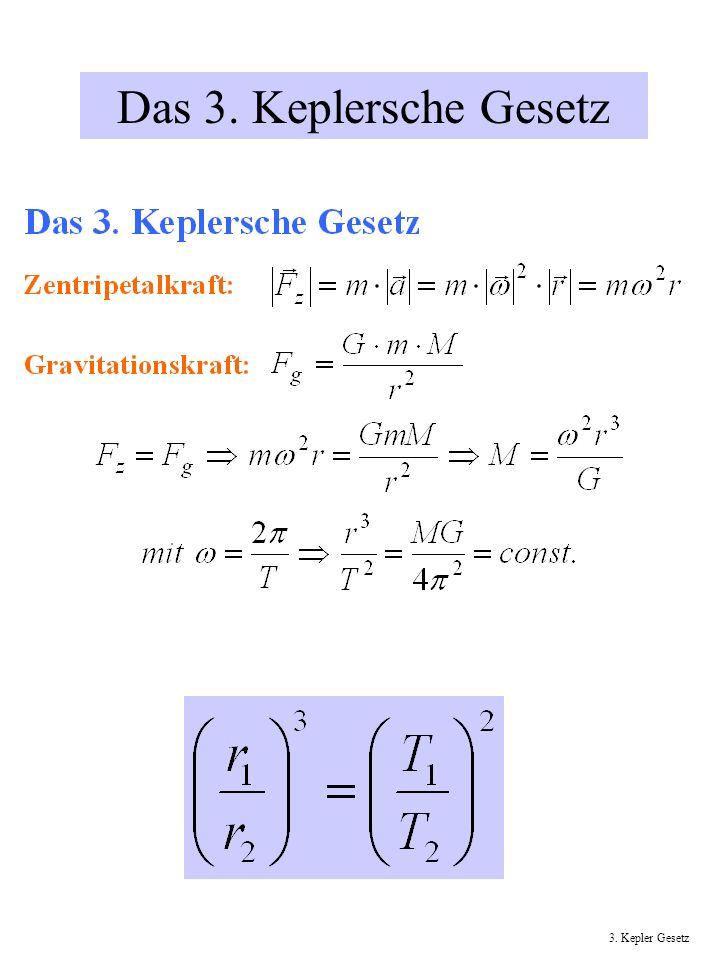 Das 3. Keplersche Gesetz 3. Kepler Gesetz