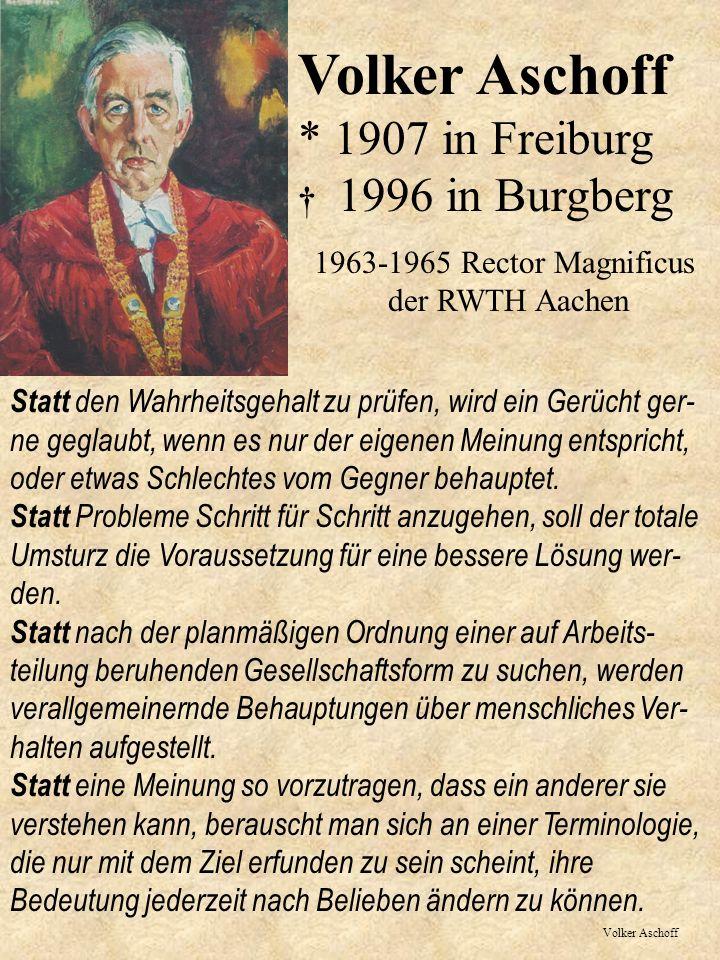 1963-1965 Rector Magnificus der RWTH Aachen