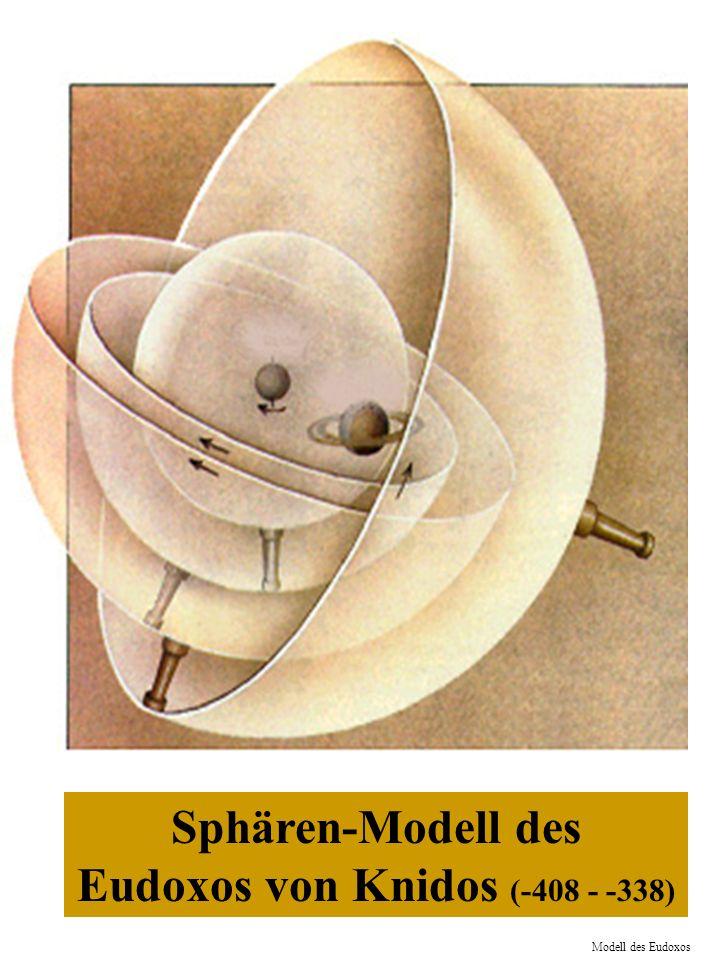 Sphären-Modell des Eudoxos von Knidos (-408 - -338)