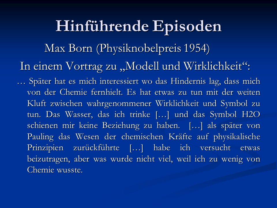 Hinführende Episoden Max Born (Physiknobelpreis 1954)